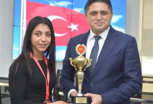 Aliağalı Gamze Demir'in Türkiye üçüncülüğü gururu